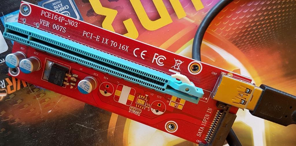 RISER PCI-E 1x-16x USB 3.0 SATA ver 007S