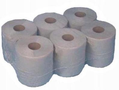 Papier toaletowy w dużych rol. JUMBO szary 1w19 cm