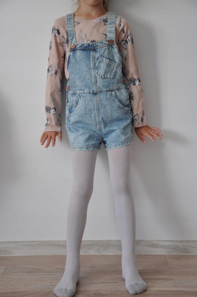 Komplet ogrodniczki jeans bluzka Next r.116