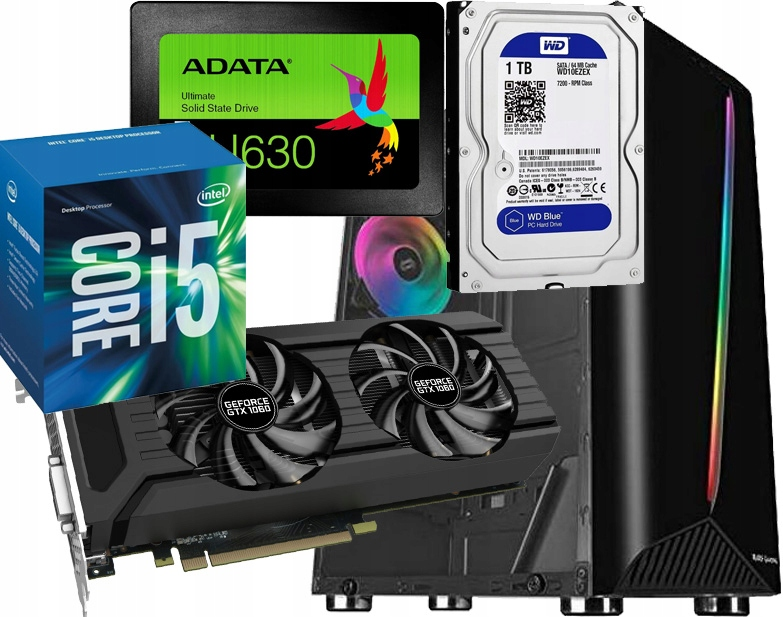 Profesjonalny dla gracza i grafika I5 GTX1060 SSD