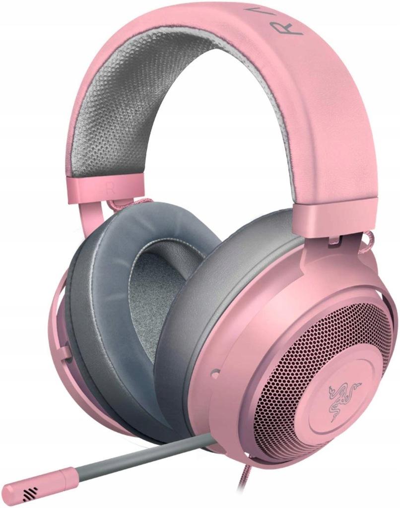 c1789 razer kraken słuchawki nauszne gaming różowe
