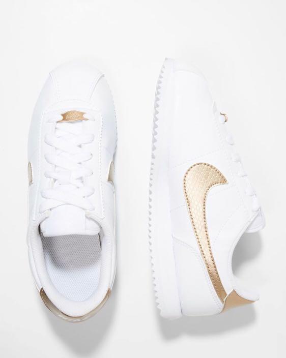 Adidasy nike cortez 37 biało złote 24 cm