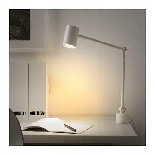 IKEA NYMANE lampa biurkowa ścienna biały