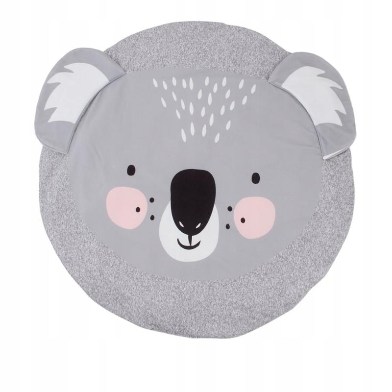 Mata okrągła dla dziecka szara koala 90cm