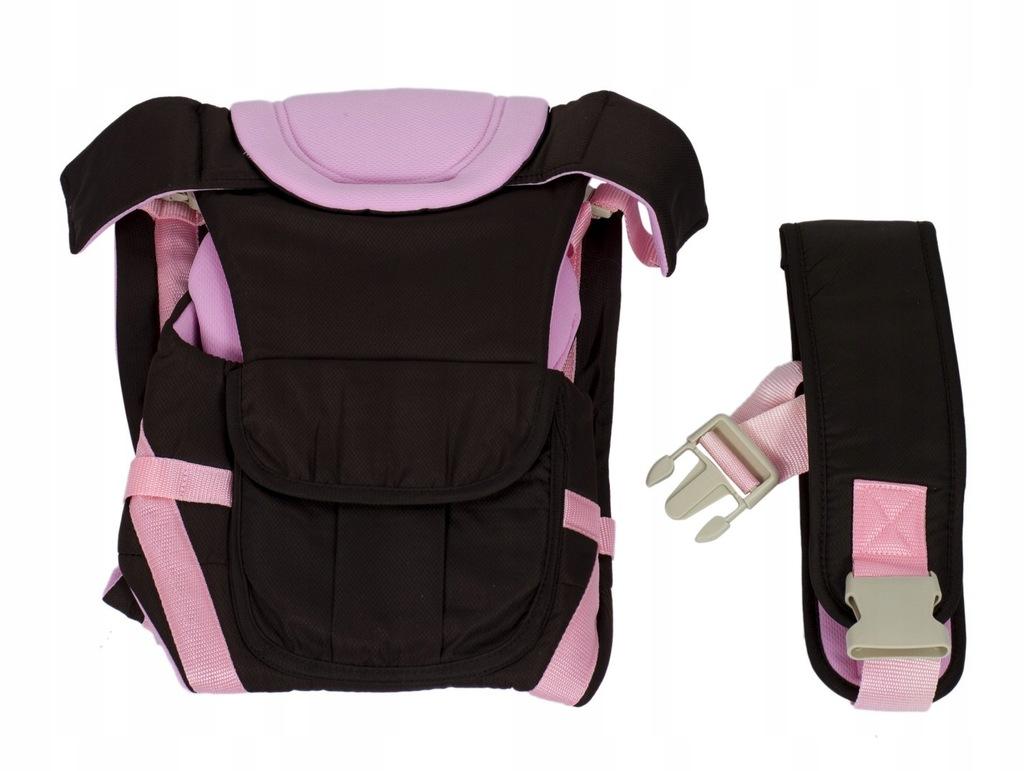 Nosidełko dla dzieci 4w1 0-30msc różowe