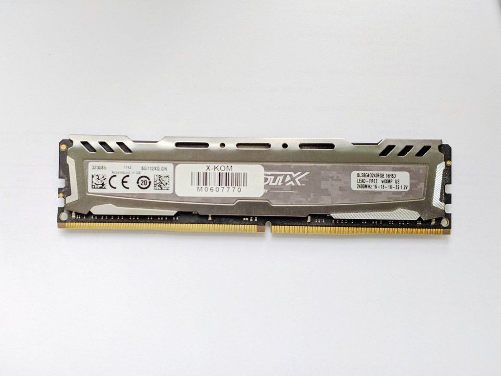 Pamięć RAM - 8GB - Crucial Ballistix 1x8 2400 CL16