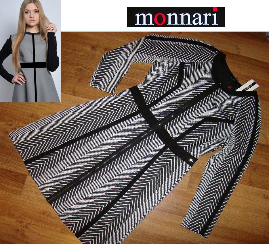 MONNARI zgrabna sukienka wzór zamek NOWA XL