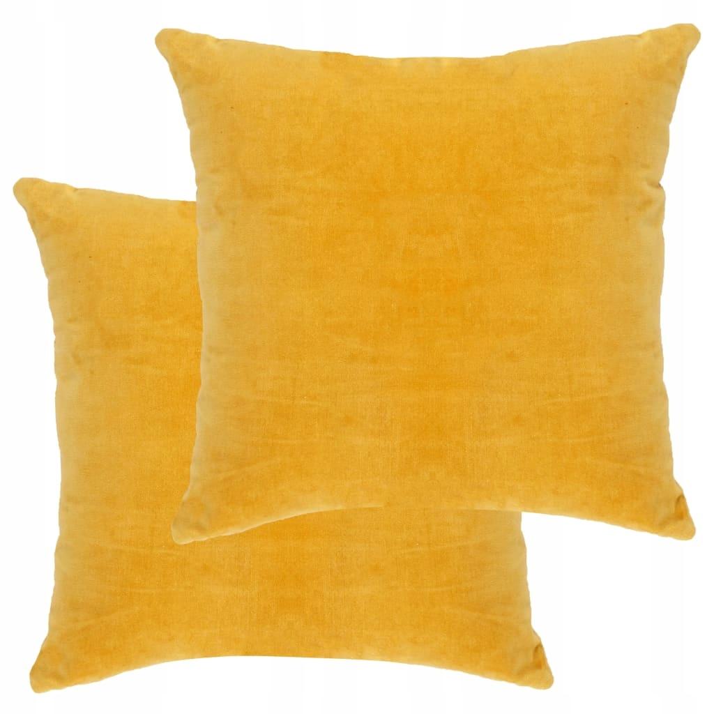 Poduszki, 2 szt., aksamit bawełniany, 45 x 45 cm,