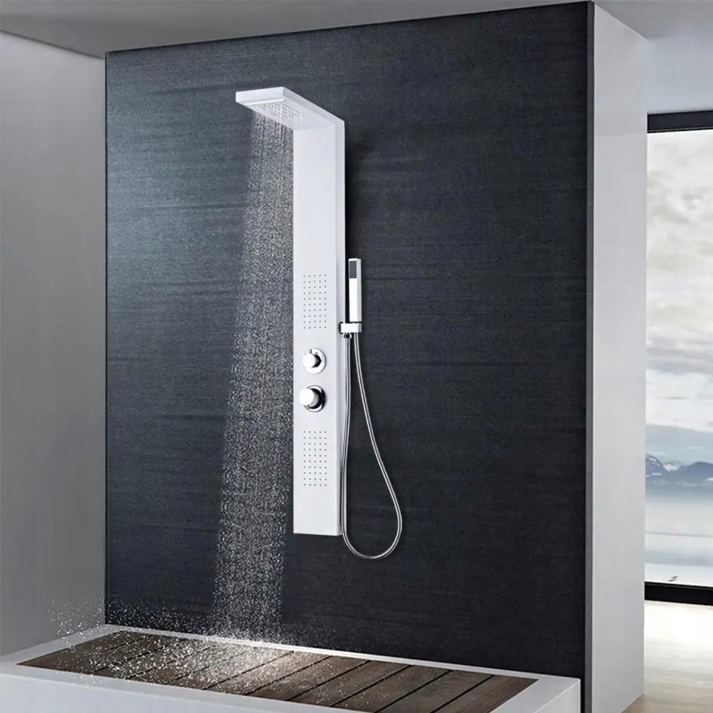 Panel Prysznicowy Aluminiowy Matowy Biały