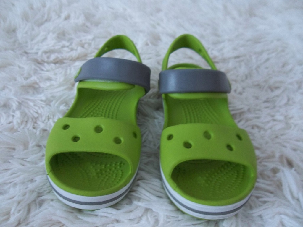 Crocs sandały zielone r. 28