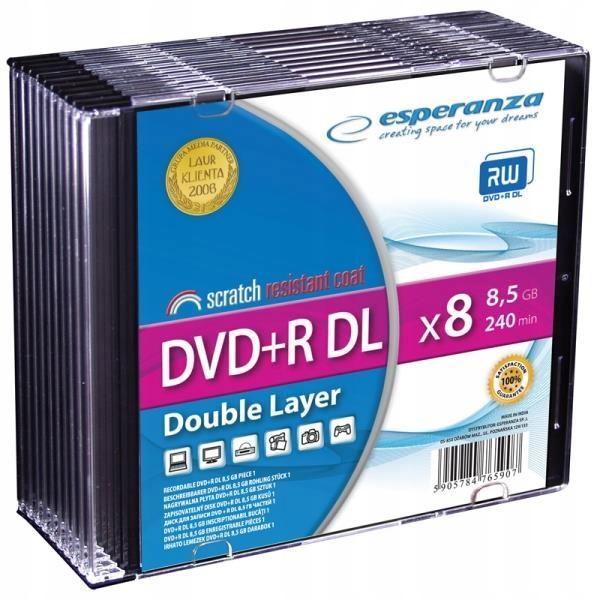 Esperanza DVD+R DL Dual Layer 8.5 GB Slim 10 szt