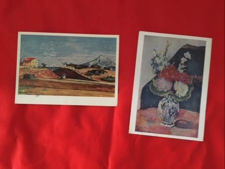 Malarstwo Paul Cezanne (1839-1906)2szt.1971r.