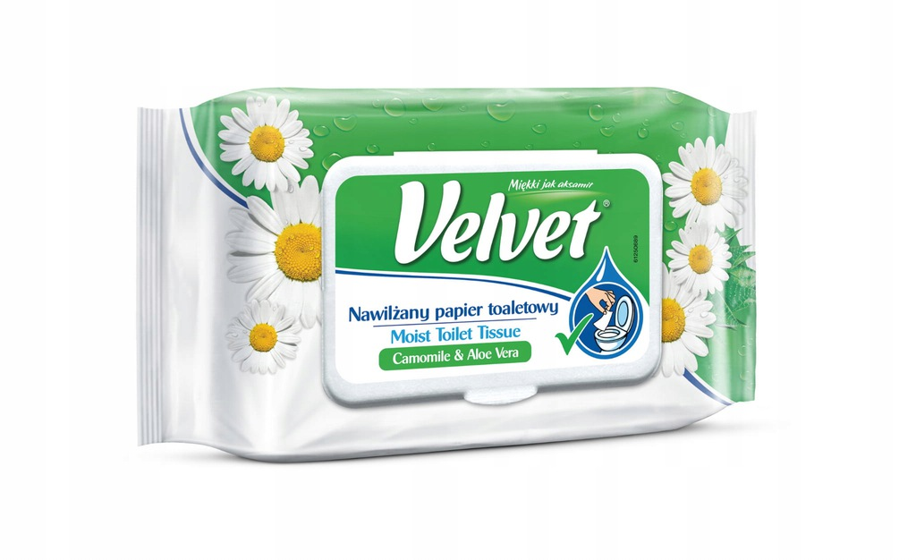 VELVET Nawilżany Papier toaletowy Rumianek&Alo