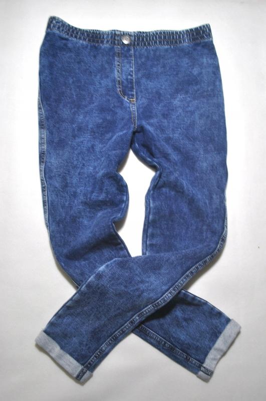 NEXT_ SPODNIE - TREGGINSY jeans MARMURKOWY_ 128