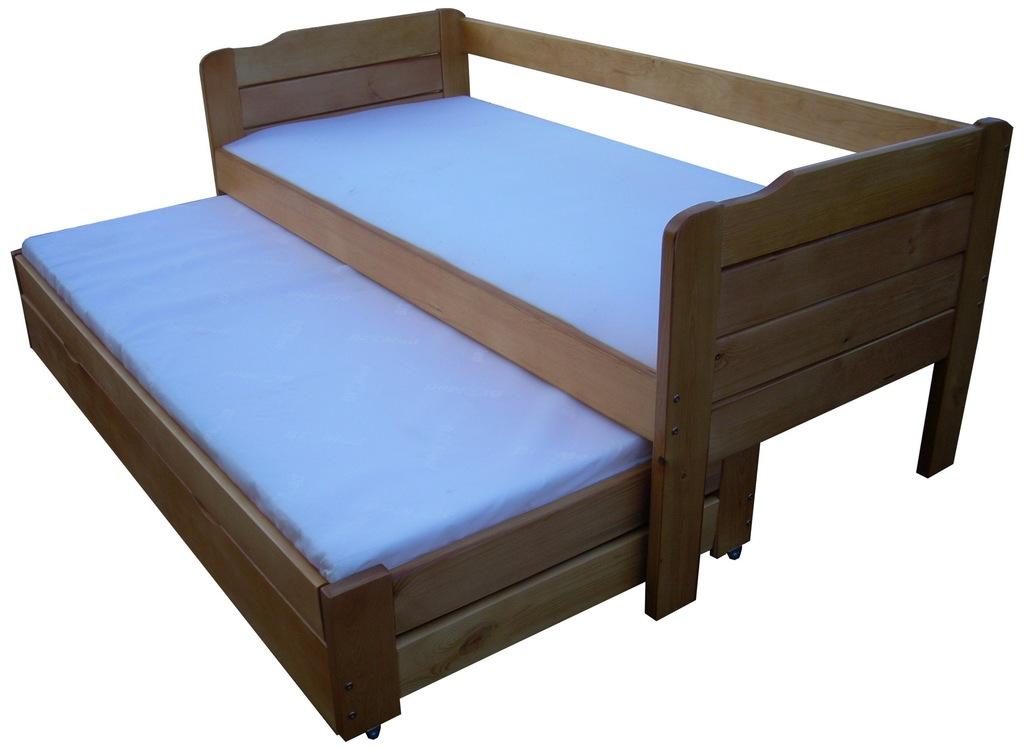 PERFECT 80x200 cm łóżko z wysuwanym spaniem 120kg!