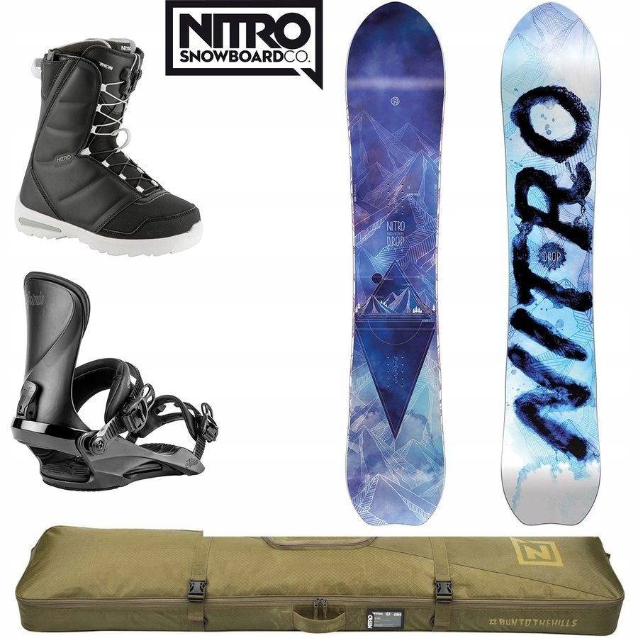 Snowboard Drop + wiązania + buty + pokrowiec