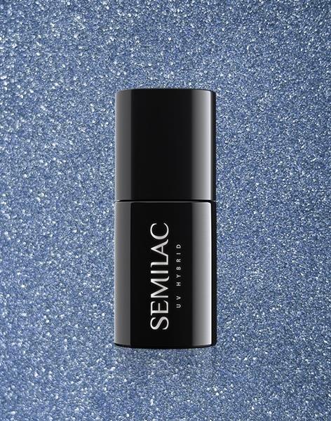Semilac Lakier Hybrydowy Platinum Silver Blue 255