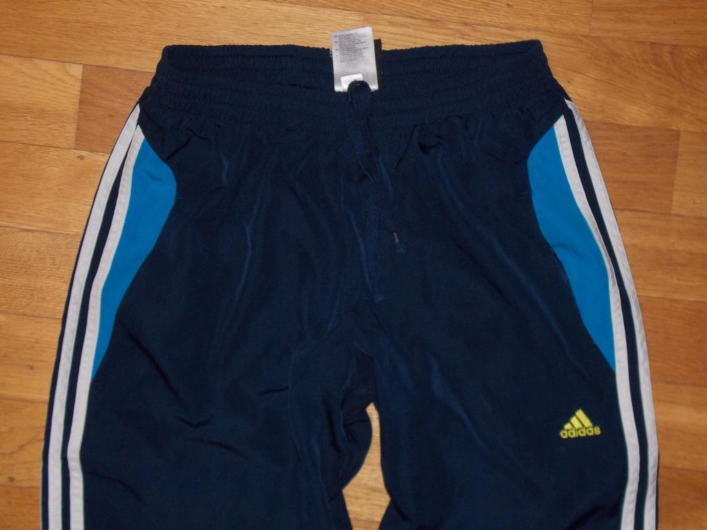 spodnie ADIDAS sportowe dresy granatowe 13 lat 174