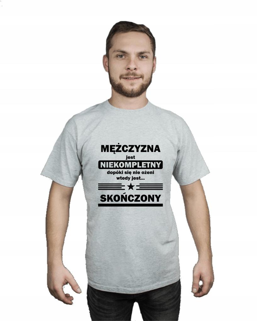 Koszulka męska NIEKOMPLETNY MĘŻCZYZNA r XXL