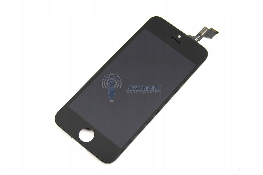 WYŚWIETLACZ EKRAN LCD DOTYK RAMKA IPHONE CZARNY 5S