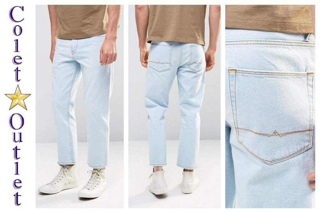 mr96 spodnie jeans jeansy jasne proste W34 L32