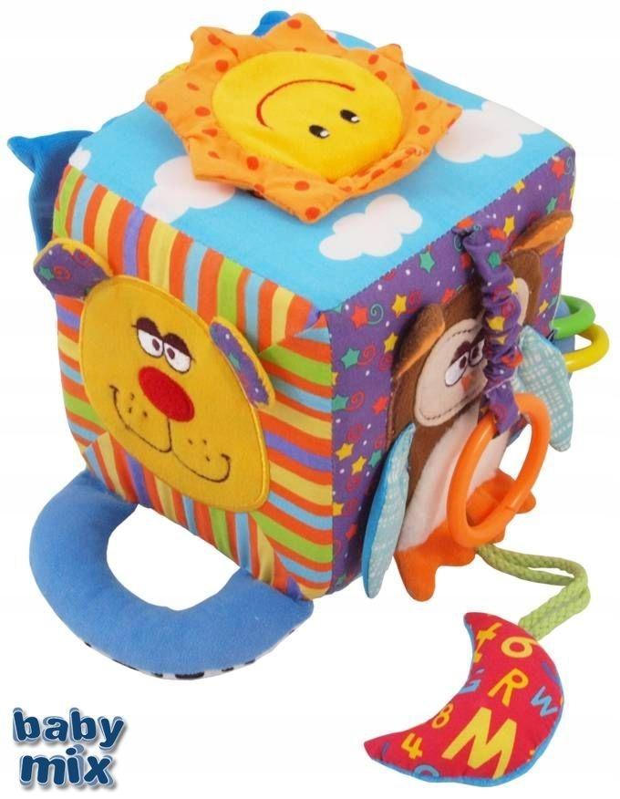 Pluszowa zabawka Baby Mix KOSTKA Edukacyjna PIESEK