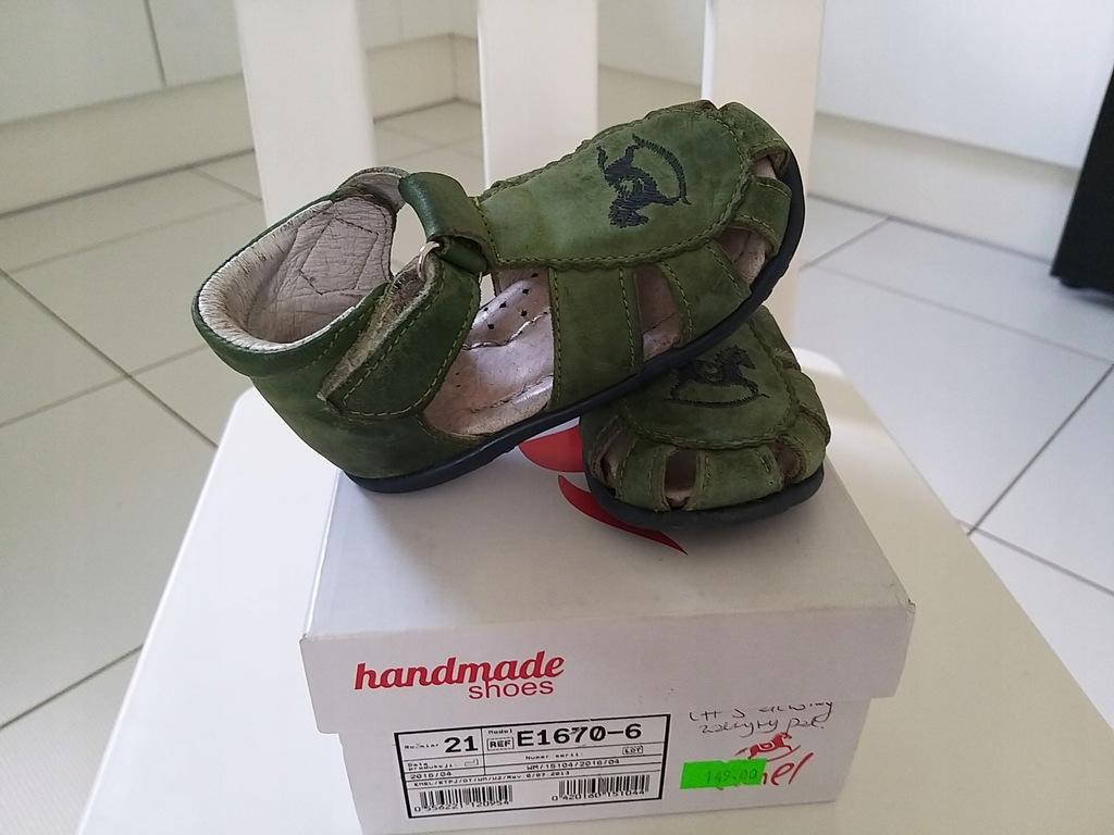 Sandały EMEL zielone roz.21