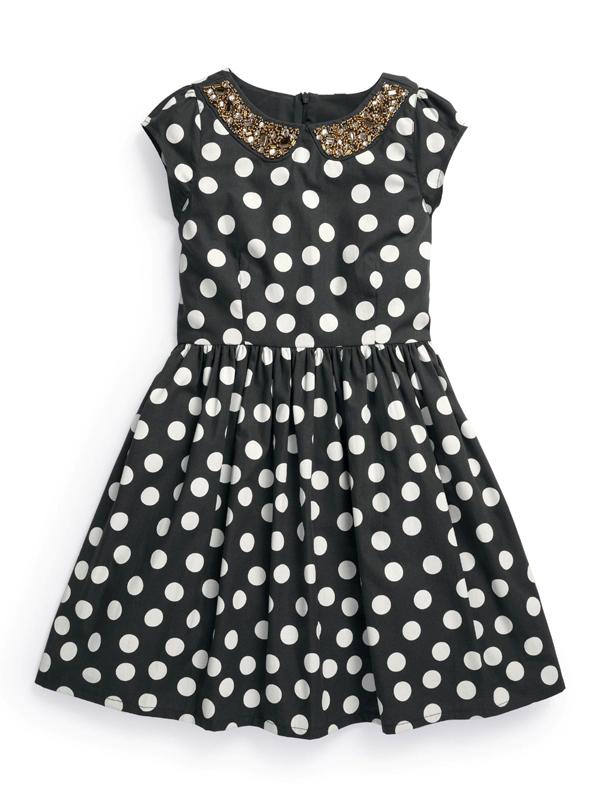 Next Intrygująca sukienka PARTY DRESS -grochy- 104