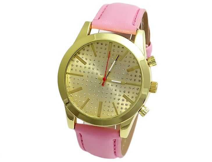 PUDROWY zegarek damski geneva RÓŻ NOWOŚĆ
