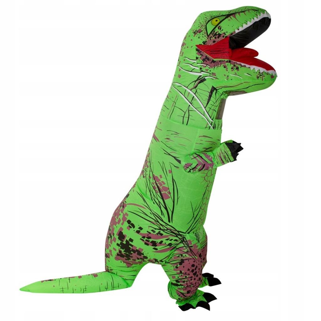 Kostium strój dmuchany dinozaur T-REX Gigant zielo