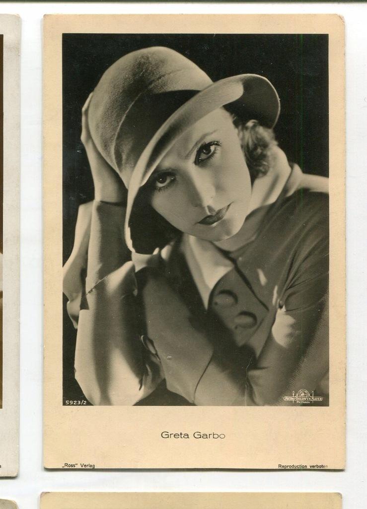 Greta Garbo Kino Film Aktorka Foto Pocztówka 57