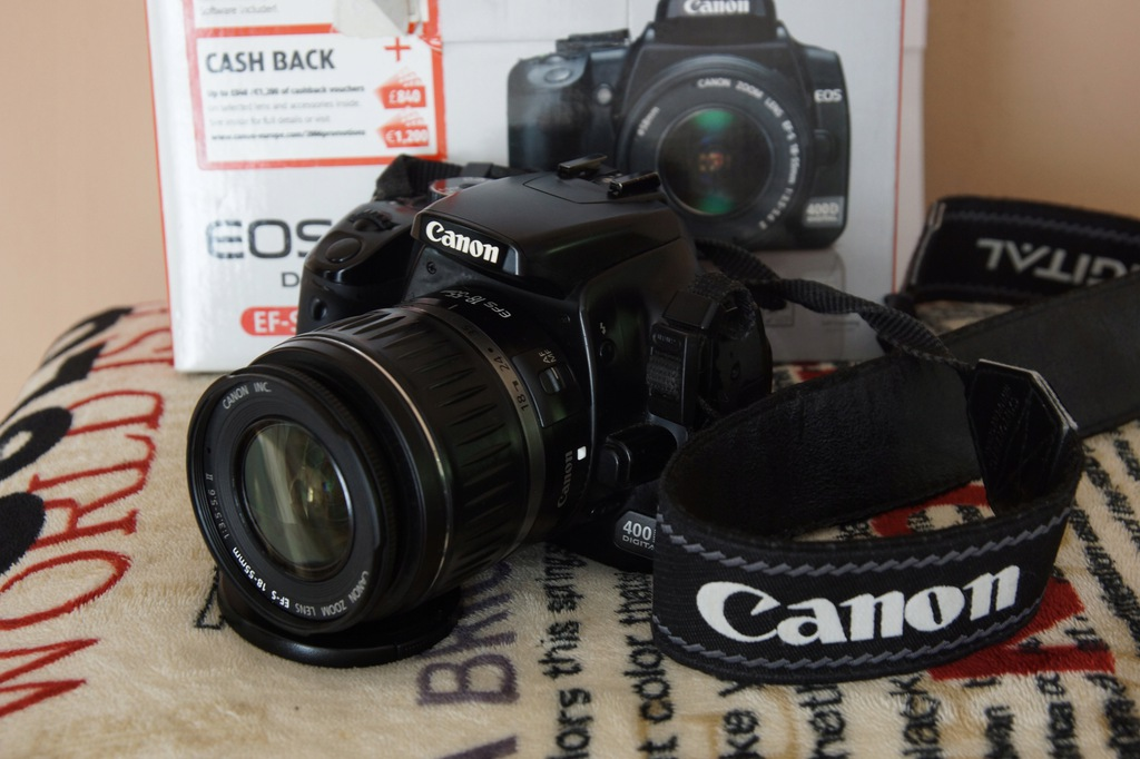 Lustrzanka Canon EOS 400D + Obiektyw Canon EF-S II