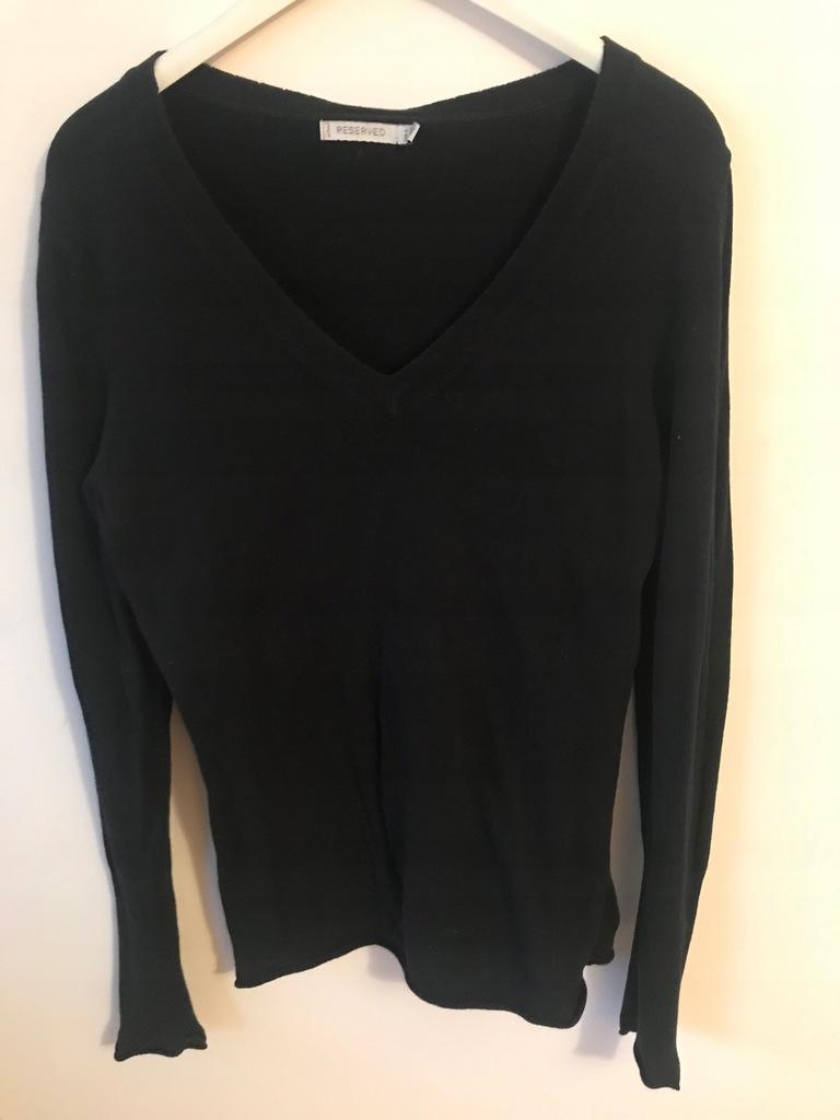 Reserved czarny damski pulover sweter roz L od 1zł