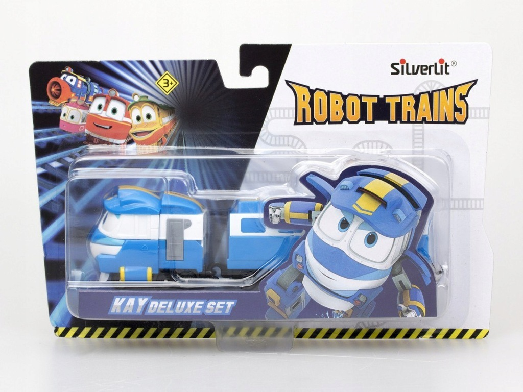 Pojazd z wagonikami Deluxe Robot Trains