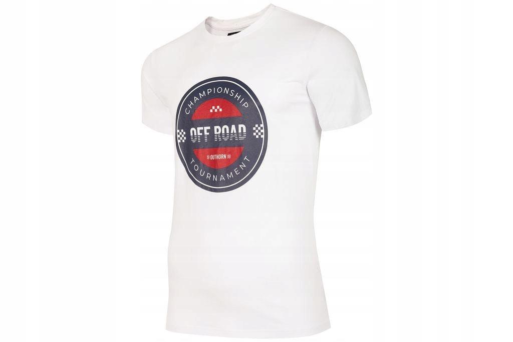 Koszulka męska biała Outhorn HOZ19 TSM603