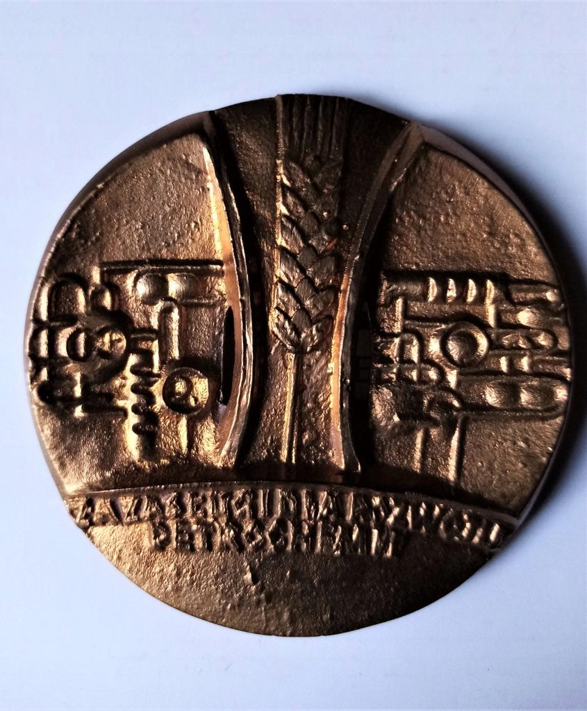 Plakieta medal B. Chromy petrochemia