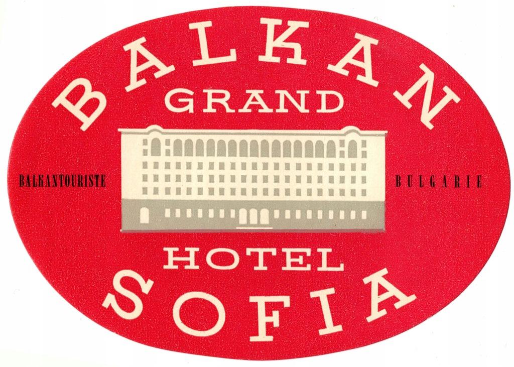 Naklejka Sofia hotel Balkan Grand