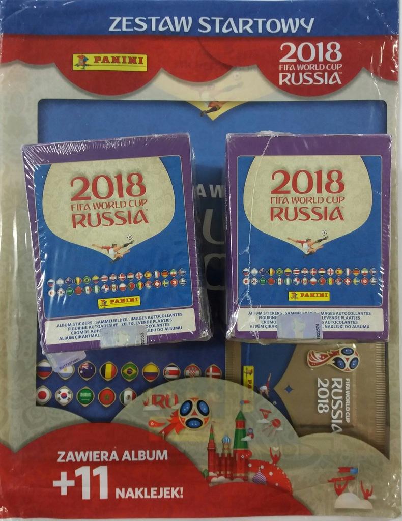 WORLD CUP RUSSIA 2018 ALBUM + 2 BOXY FOLIA 511 SZT