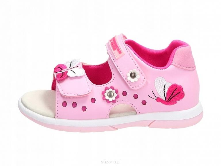 Różowe sandałki dziecięce AMERICAN DR19/20 r22