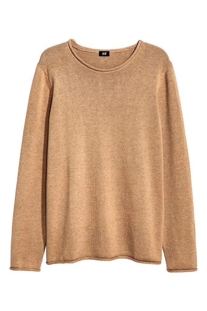 H&M Meski Sweter Stylowy Beż S