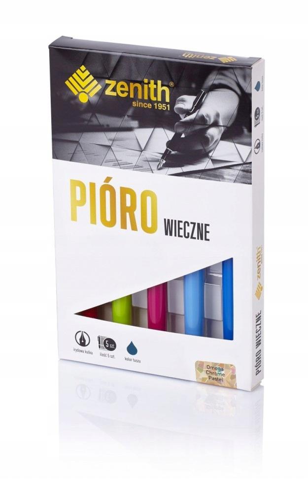 Pióro wieczne Zenith Omega Chrome Pastel box 5 szt