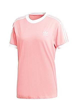 ADIDAS Originals – T shirt z detalami z logo – Różowy