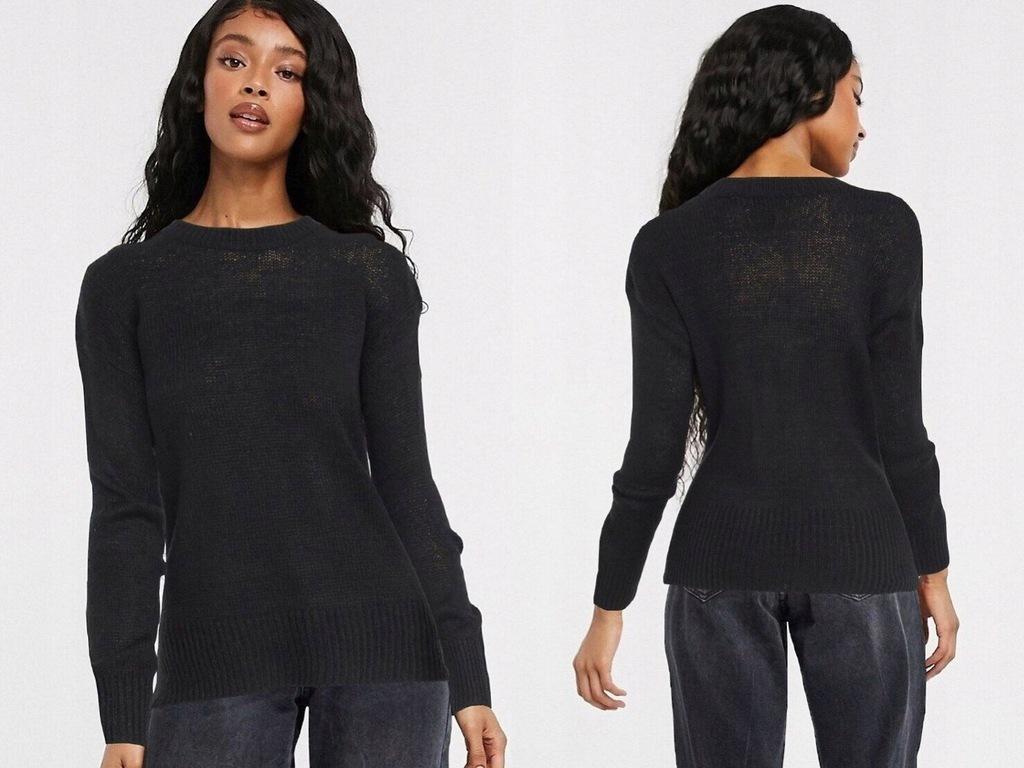 New Look Czarny sweter z okrągłym dekoltem M/38