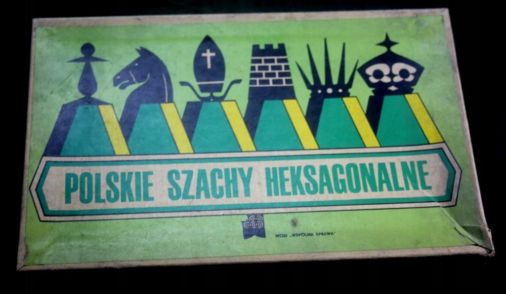 Polskie Szachy Heksagonalne gra planszowa PRL