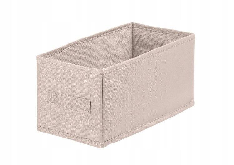 Pudełko tekstylne ANABEL 15x31x15cm jasny brąz 7l