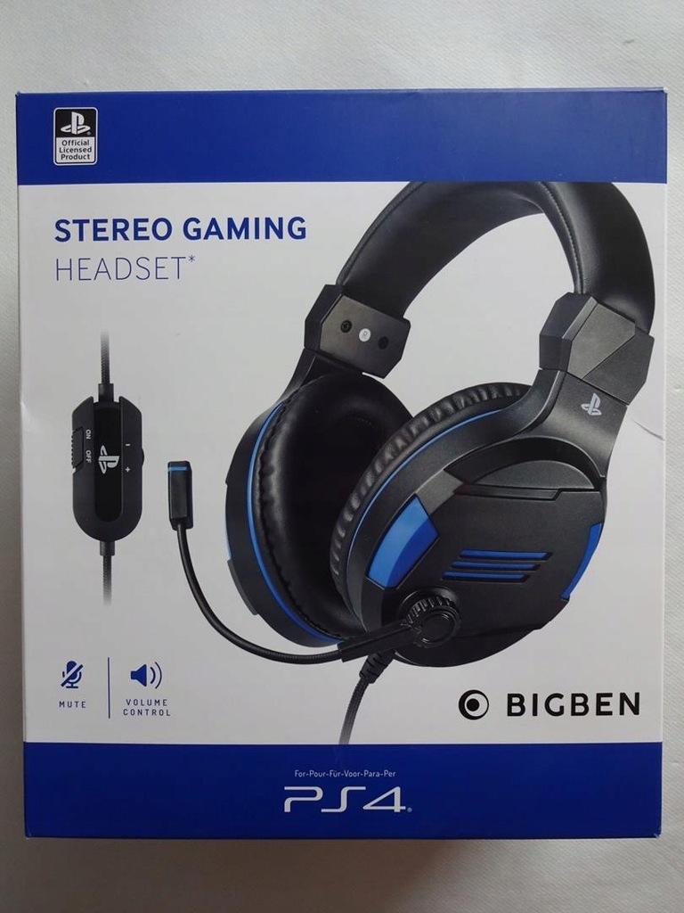 Słuchawki BIGBEN Stereo Headset Playstation4