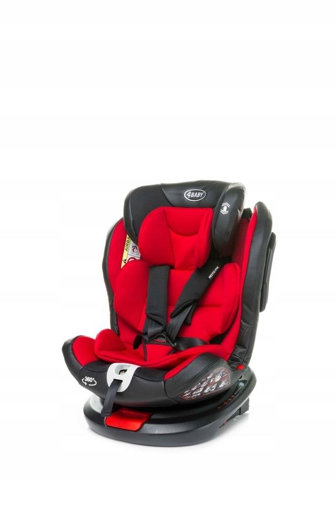 Fotelik samochodowy 4baby Roto-fix 0-36 kg Red