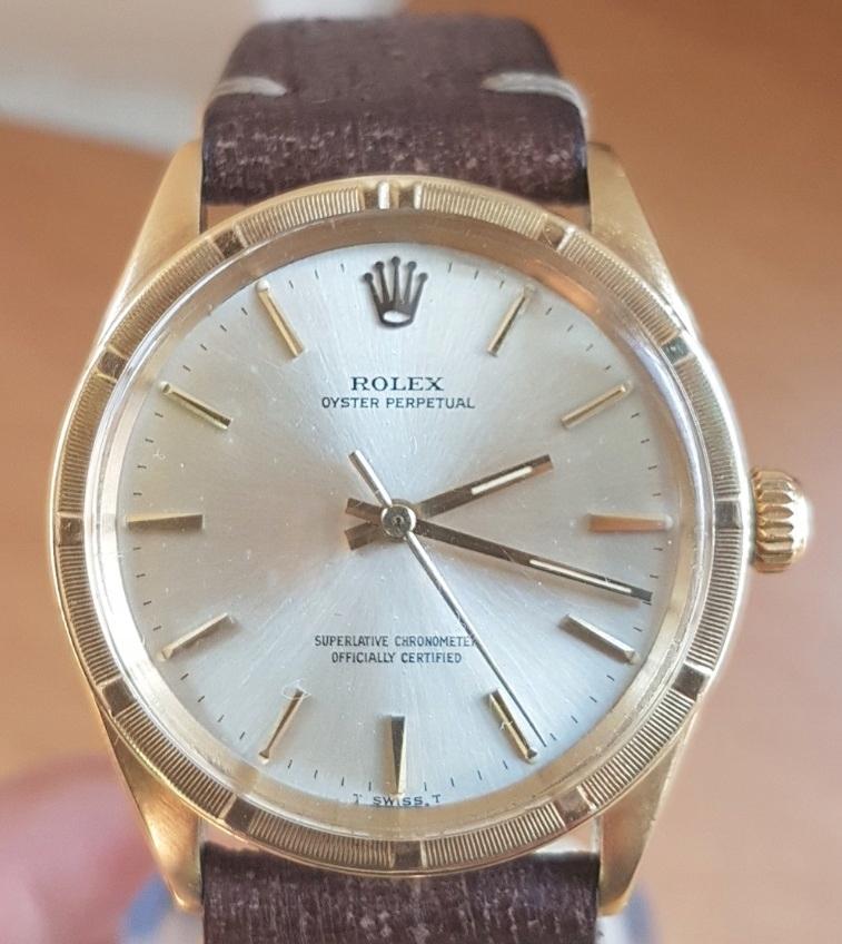 Rolex Oyster Perpetual 14kt Złoty Automat Vintage