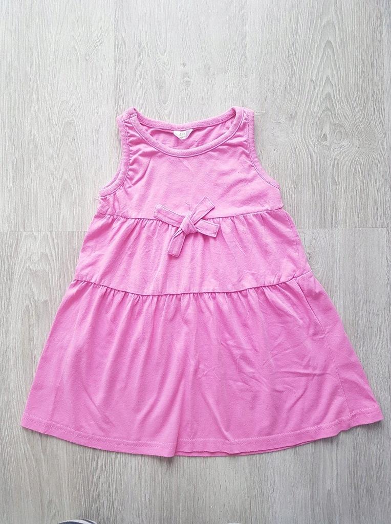 Tunika różowa rozm. 104 cm