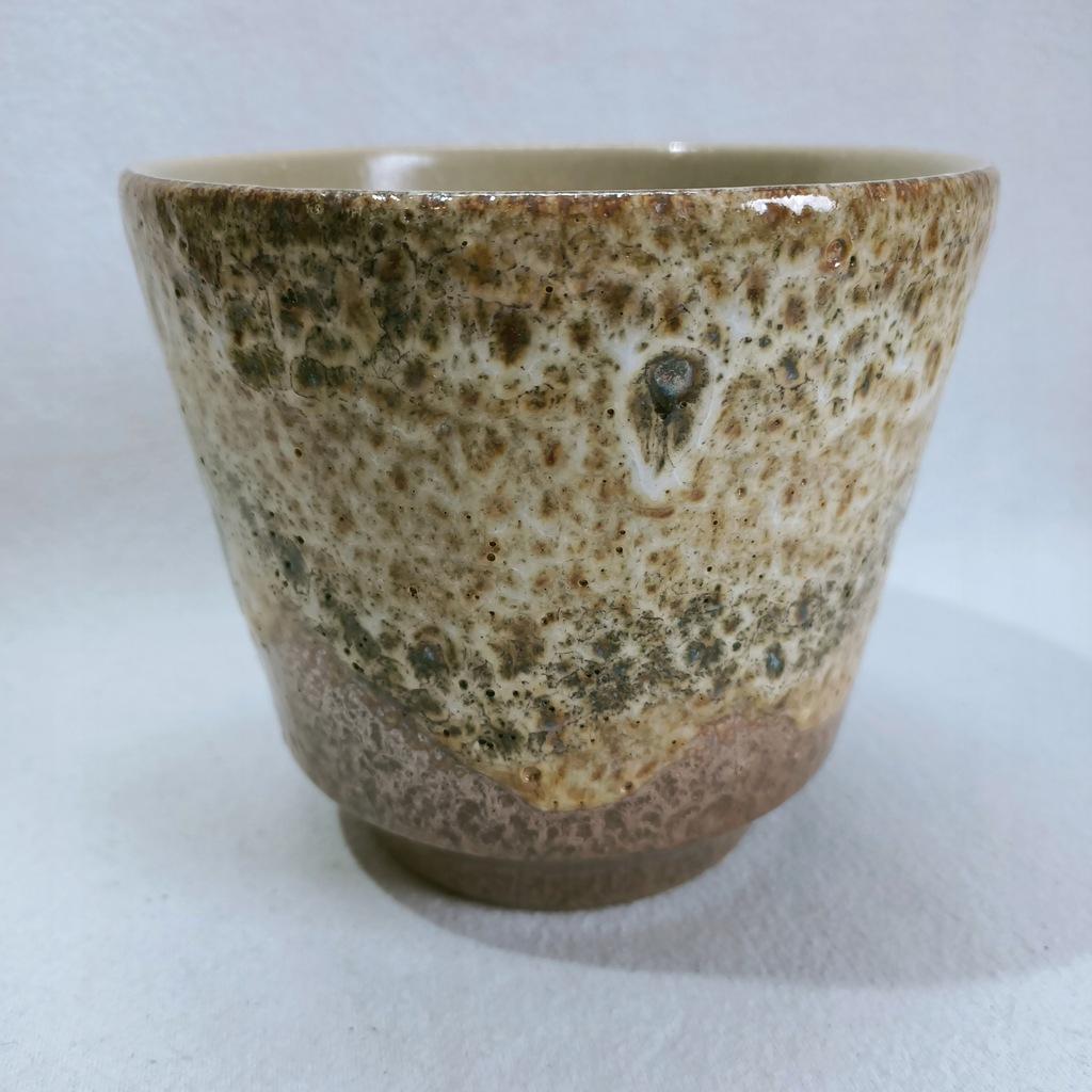 Osłonka ceramiczna na doniczkę retro fat lava